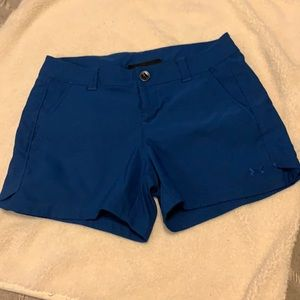 Under armour fitted heat gear shorts navy blue